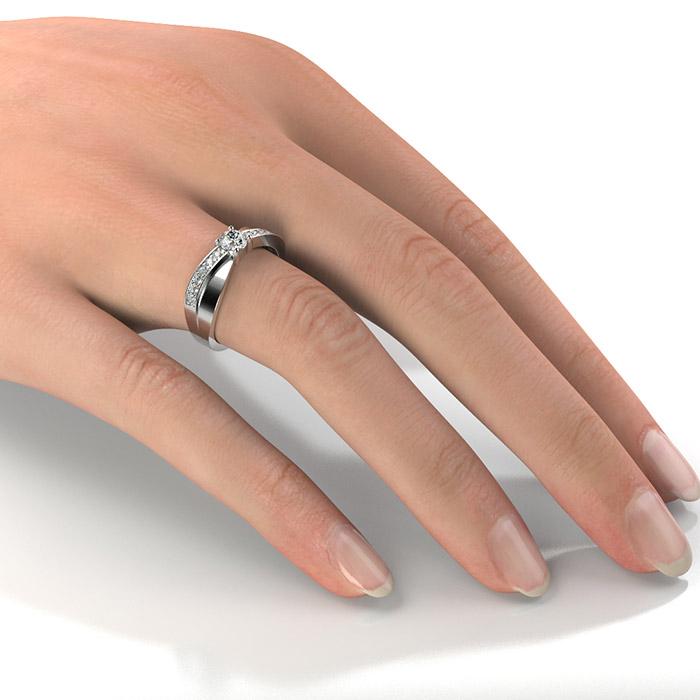 Zásnubný prsteň so zirkónom ZP 354 2