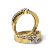 Zásnubný prsteň so zirkónom ZP 354 3