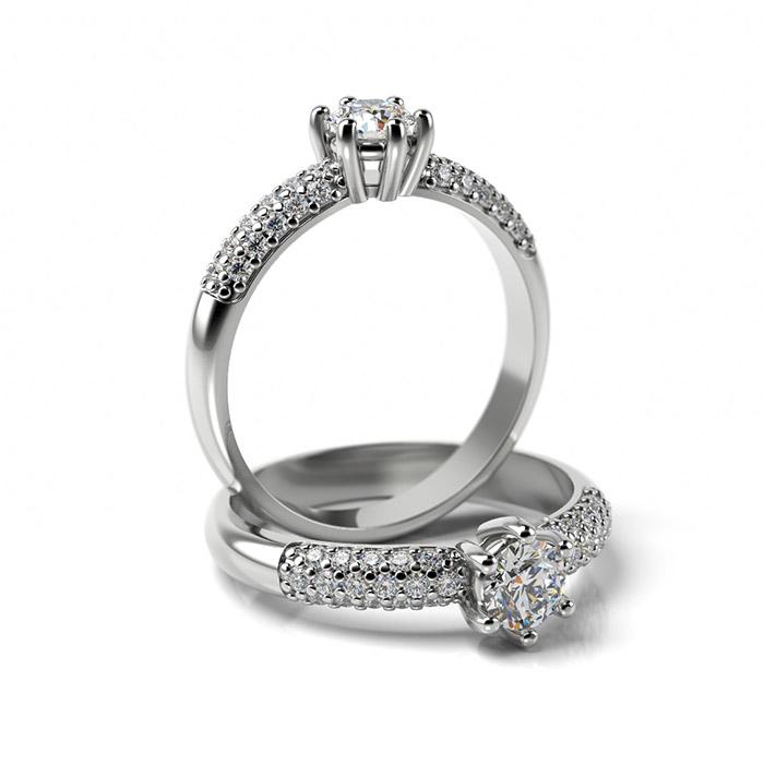 Zásnubný prsteň s diamantom ZP 355