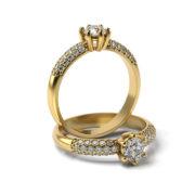 Zásnubný prsteň so zirkónom ZP 355 3