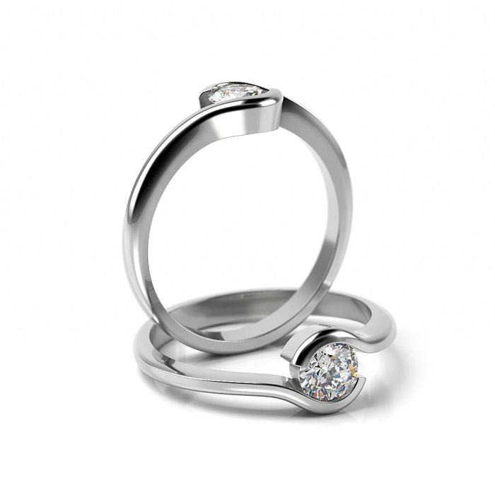 Zásnubný prsteň s diamantom ZP 356 1