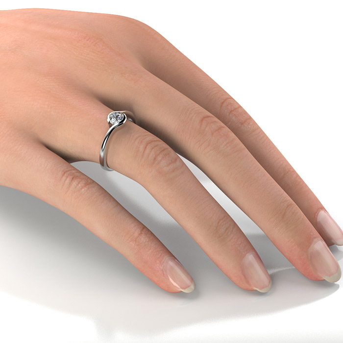 Zásnubný prsteň so zirkónom ZP 356 2