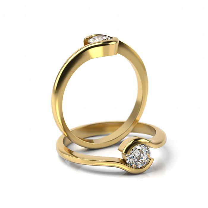 Zásnubný prsteň s diamantom ZP 356 3