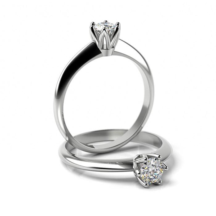 Zásnubný prsteň s diamantom ZP 357 1