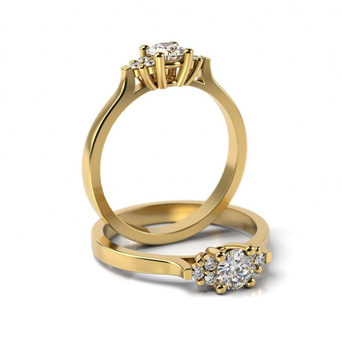 Zásnubný prsteň s diamantom ZP 358 3