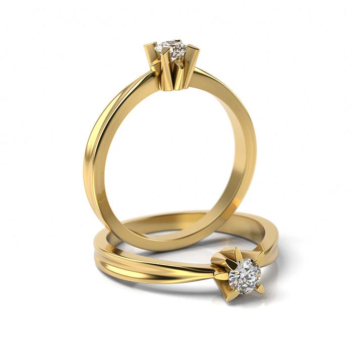 Zásnubný prsteň s diamantom ZP 359 3
