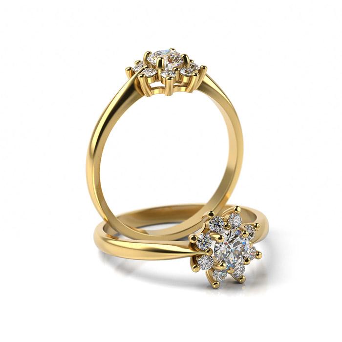 Zásnubný prsteň s diamantom ZP 360 3