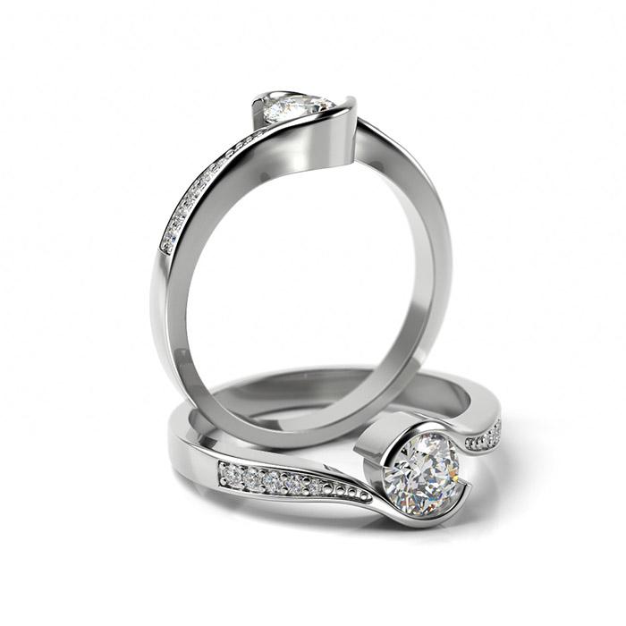 Zásnubný prsteň so zirkónom ZP 361 1