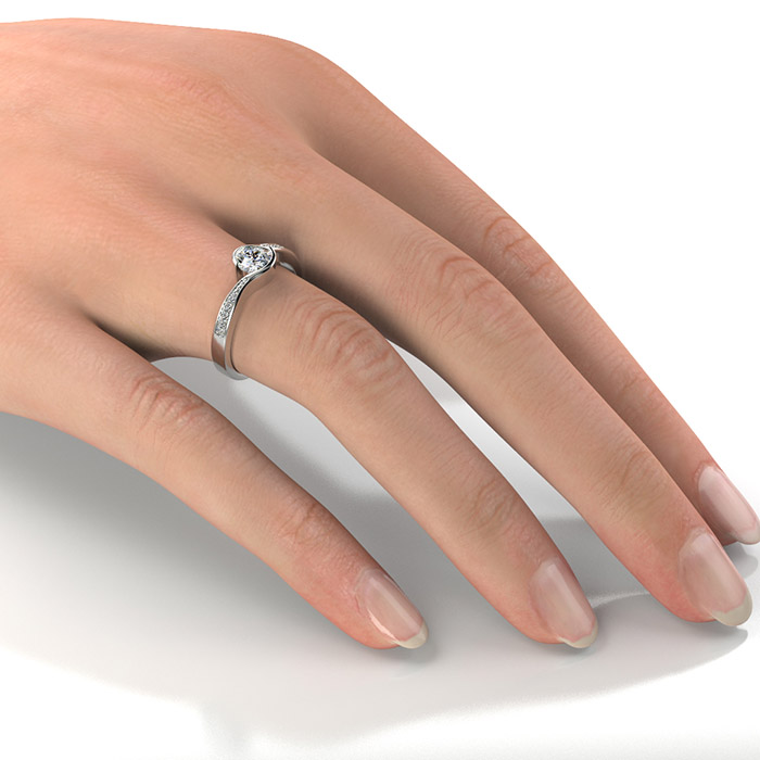 Zásnubný prsteň so zirkónom ZP 361 2