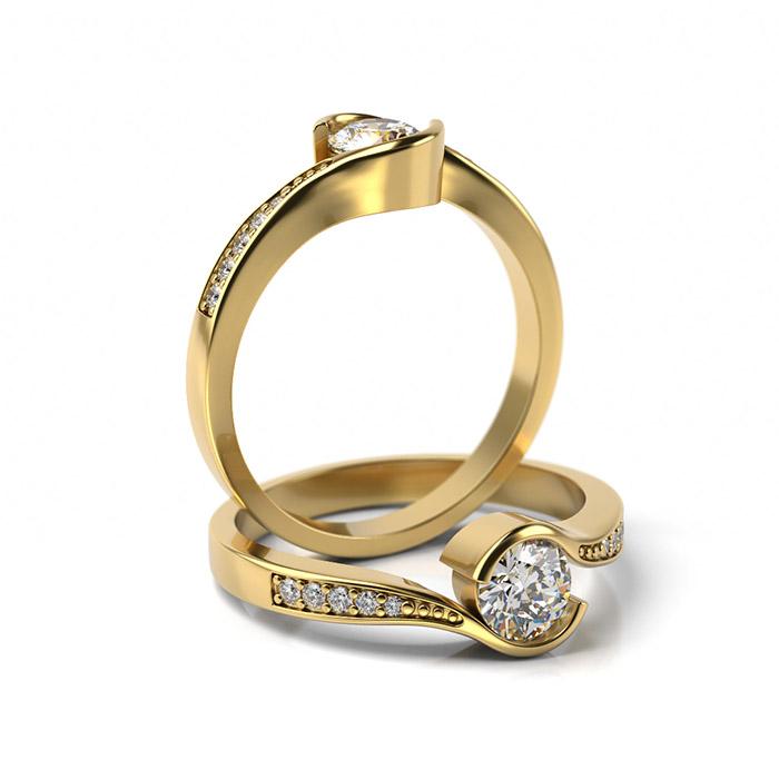 Zásnubný prsteň so zirkónom ZP 361 3