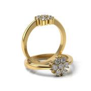 Zásnubný prsteň so zirkónom ZP 362 3