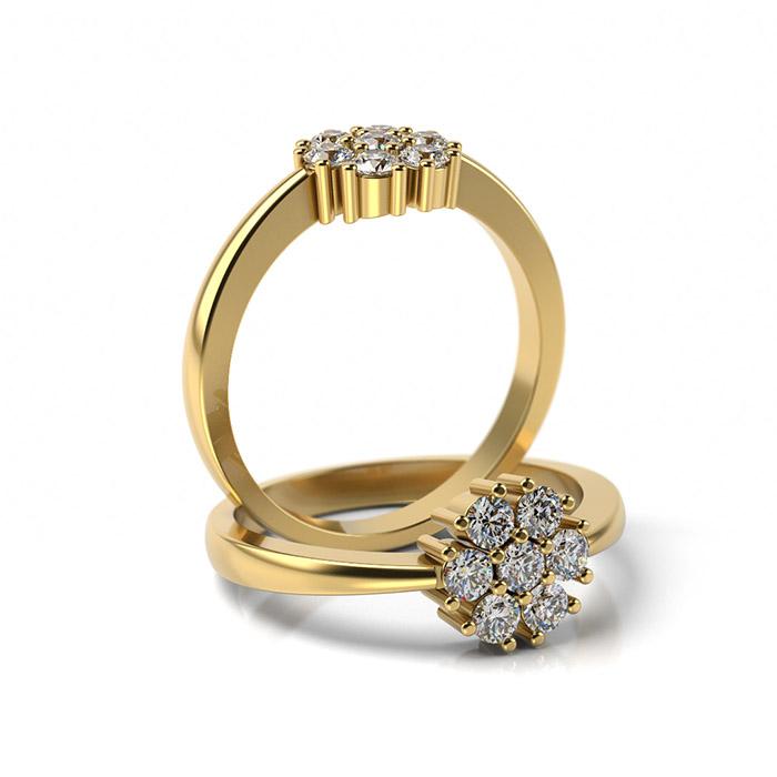 Zásnubný prsteň s diamantom ZP 362 3