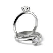 Zásnubný prsteň so zirkónom ZP 363