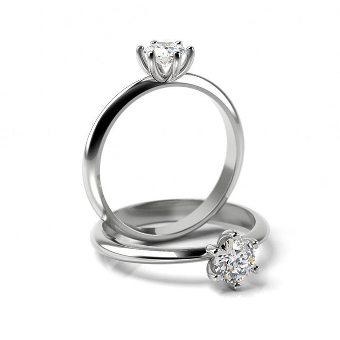 Zásnubný prsteň s diamantom ZP 363