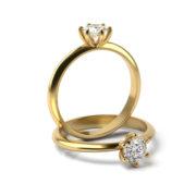 Zásnubný prsteň so zirkónom ZP 363 3