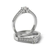Zásnubný prsteň so zirkónom ZP 364