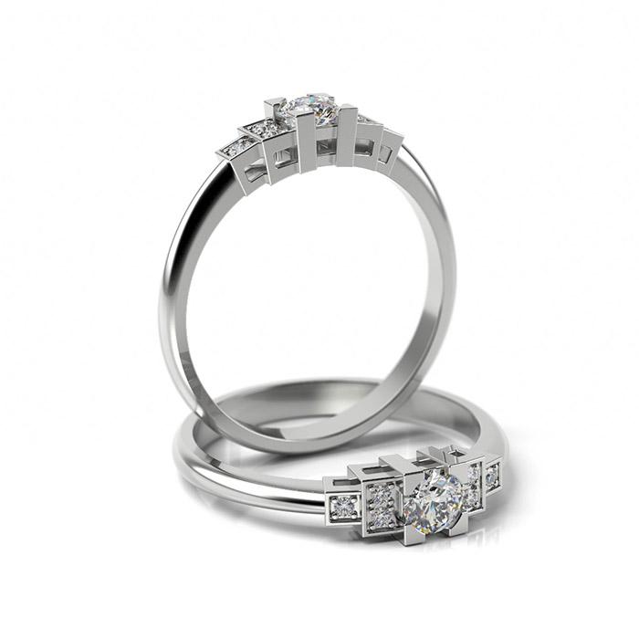 Zásnubný prsteň s diamantom ZP 365 1
