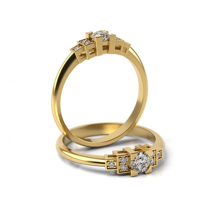 Zásnubný prsteň s diamantom ZP 365 3