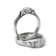 Zásnubný prsteň so zirkónom ZP 366
