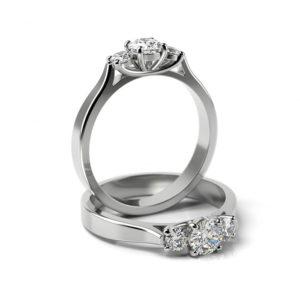 Zásnubný prsteň s diamantom ZP 366