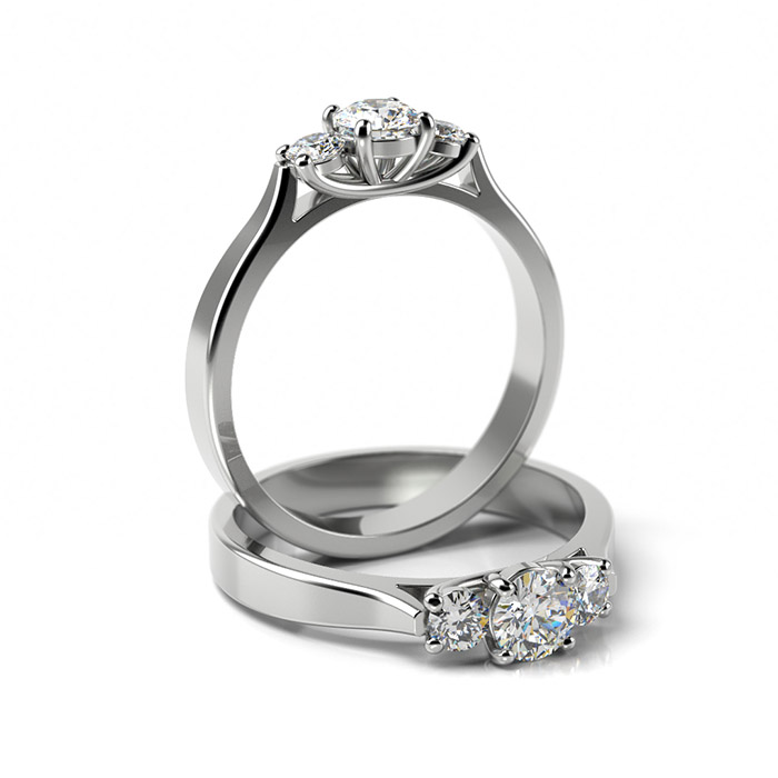 Zásnubný prsteň so zirkónom ZP 366 1