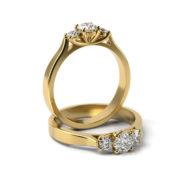 Zásnubný prsteň so zirkónom ZP 366 3