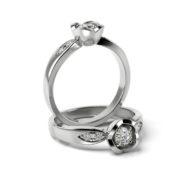 Zásnubný prsteň s diamantom ZP 367