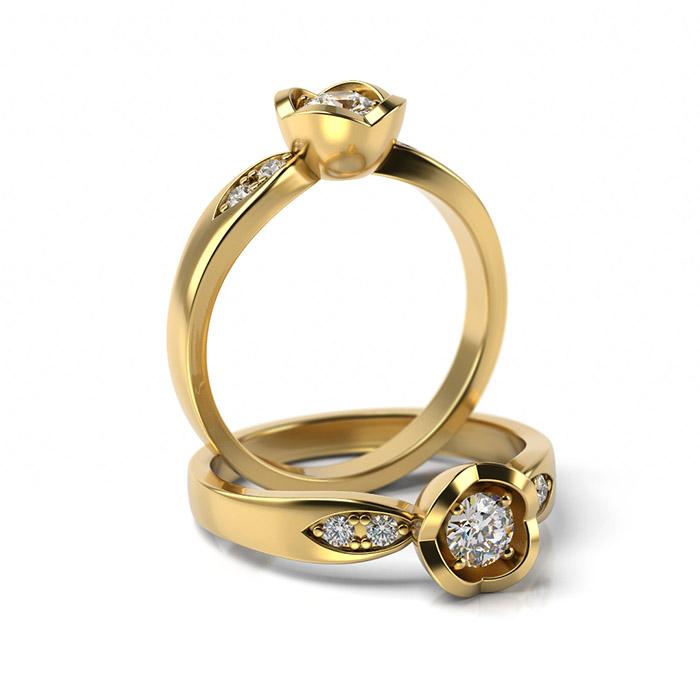 Zásnubný prsteň s diamantom ZP 367 3