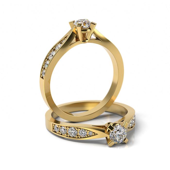 Zásnubný prsteň so zirkónom ZP 369 3