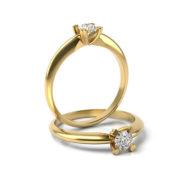 Zásnubný prsteň s diamantom ZP 370 3