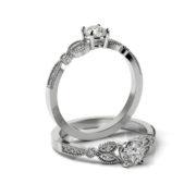 Zásnubný prsteň so zirkónom ZP 371