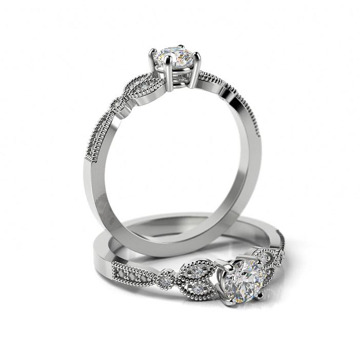 Zásnubný prsteň s diamantom ZP 371