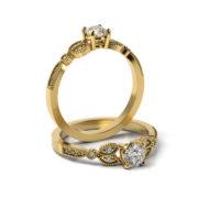 Zásnubný prsteň so zirkónom ZP 371 3