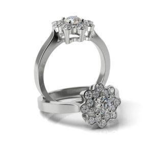 Zásnubný prsteň s diamantom ZP 372