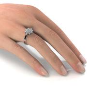 Zásnubný prsteň so zirkónom ZP 372 2