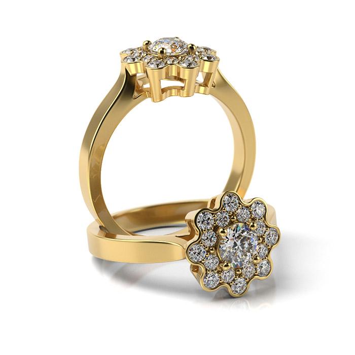 Zásnubný prsteň so zirkónom ZP 372 3