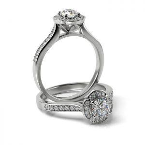 Zásnubný prsteň s diamantom ZP 373