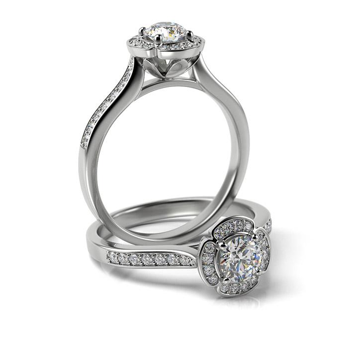 Zásnubný prsteň so zirkónom ZP 373 1