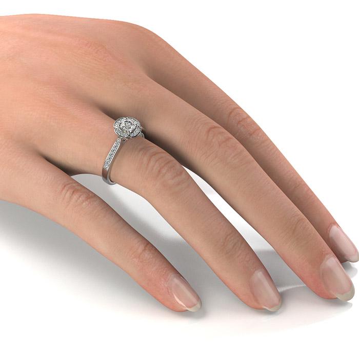 Zásnubný prsteň so zirkónom ZP 373 2
