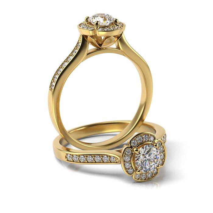 Zásnubný prsteň so zirkónom ZP 373 3