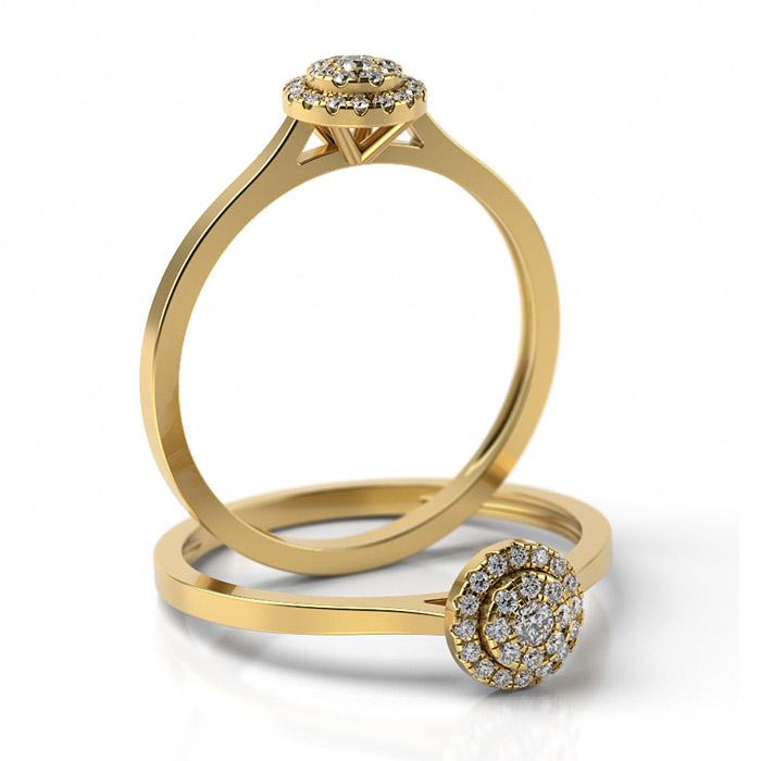 Zásnubný prsteň s diamantom ZP 501 2