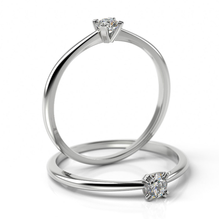 Zásnubný prsteň s diamantom ZP 503