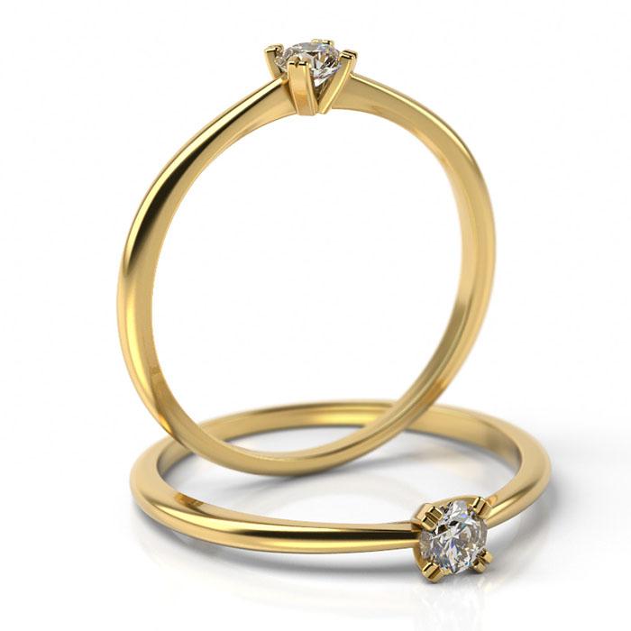 Zásnubný prsteň s diamantom ZP 503 2