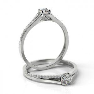 Zásnubný prsteň s diamantom ZP 504