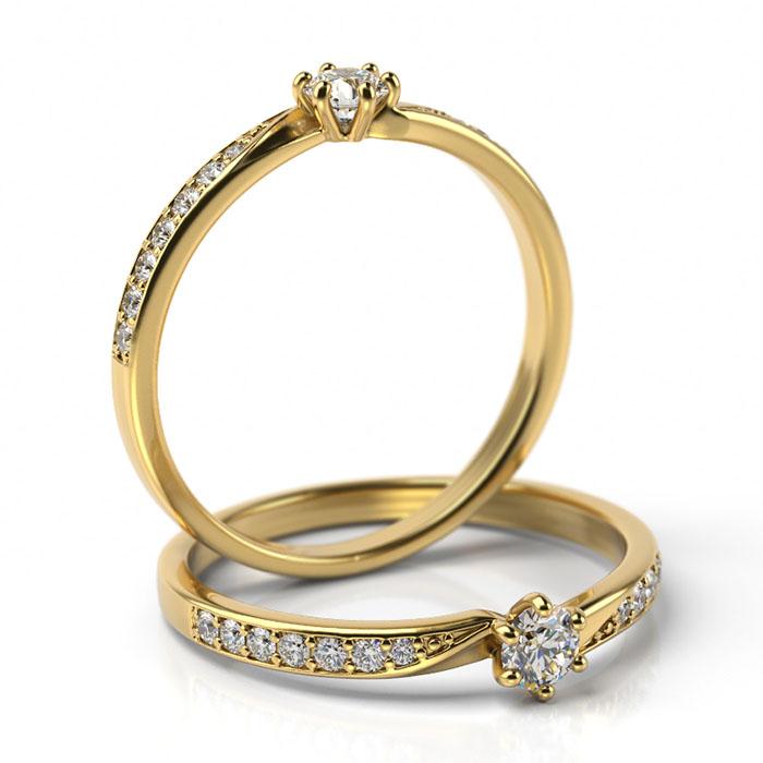 Zásnubný prsteň s diamantom ZP 505 2