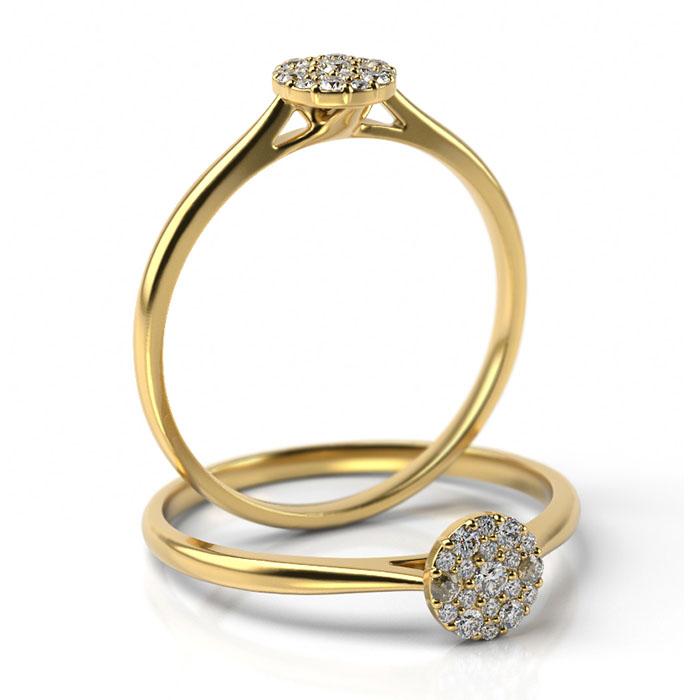 Zásnubný prsteň s diamantom ZP 509 2