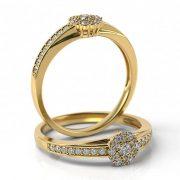 Zásnubný prsteň s diamantom ZP 510 2