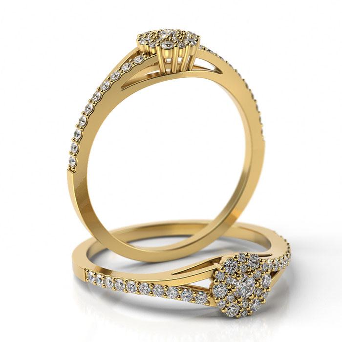 Zásnubný prsteň s diamantom ZP 511 2