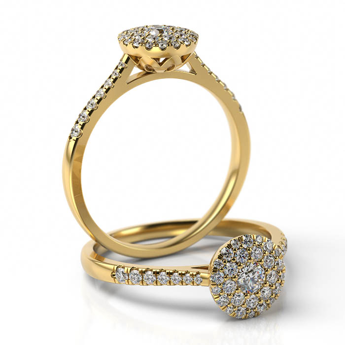 Zásnubný prsteň s diamantom ZP 512 2
