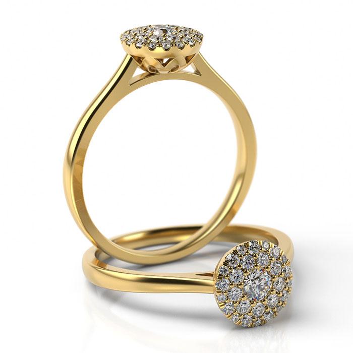 Zásnubný prsteň s diamantom ZP 514